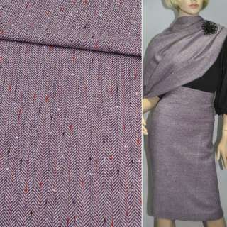 Твид елочка фиолетовый, ш.150
