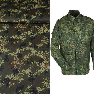 Ткань камуфляжная темно-зеленая с коричнево-черным ш.150