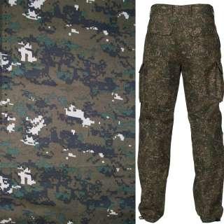Ткань камуфляжная коричневая с зелено-серым ш.150