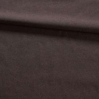 Ткань костюмная хлопковая в мелкую елочку коричневая, ш.145