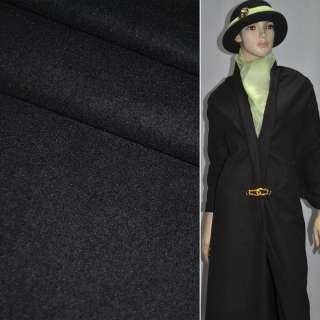 Ткань костюмная черная ш.155
