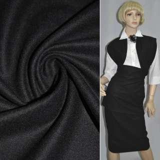 Ткань костюмная черная ш.153