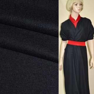 Ткань костюмная черная ш.154