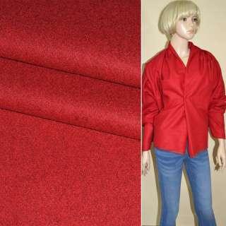 Ткань костюмная красная ш.155