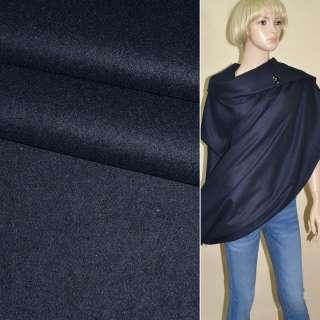 Ткань костюмная сине-черная ш.150