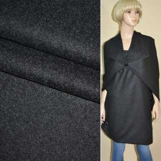 Ткань костюмная темно-серая ш.155