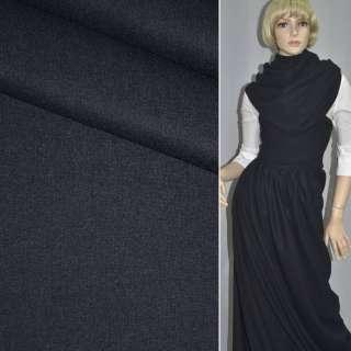 Ткань костюмная темно-синяя ш.154