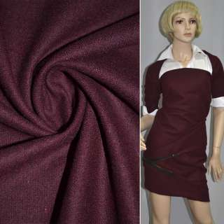Ткань костюмная темно-вишневая ш.148