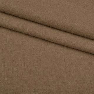 Ткань костюмная гладкокрашеная бежево-коричневая ш.150