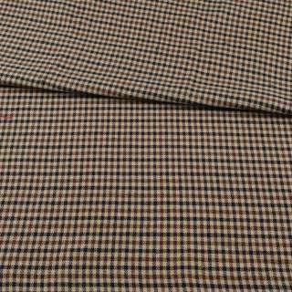 Шотландка бежевая + коричнево-черная клетка ш.145