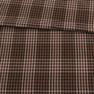 Шотландка коричневая в бежево-красную клетку, ш.150