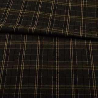 Шотландка оливковая в бежевую клетку ш.150