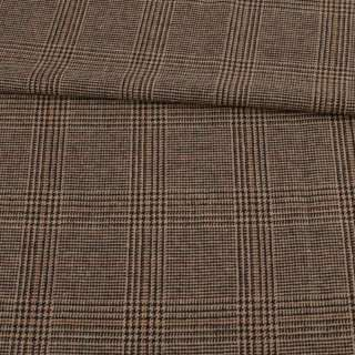 Шотландка бежевая в коричневую клетку, ш.150