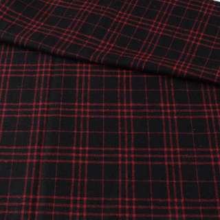 Шотландка черная в красную клетку ш.152