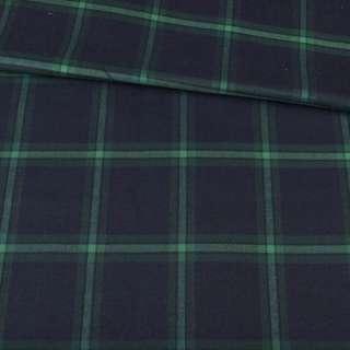 Шотландка синяя темная в зеленую клетку, ш.150