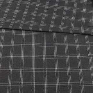 Шотландка серая в черно-белую клетку, ш.115