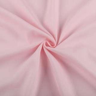 Хлопок со льном розовый светлый ш.150