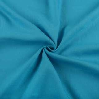 Хлопок со льном голубой яркий ш.150