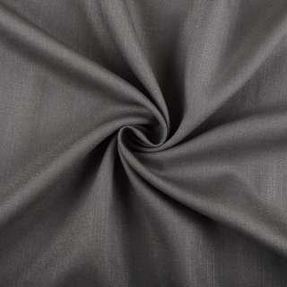 Хлопок со льном серый темный ш.150