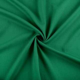Хлопок со льном зеленый изумрудный ш.150