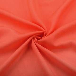 Хлопок со льном оранжевый яркий ш.150