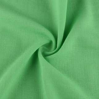 Хлопок со льном зеленый ш.150