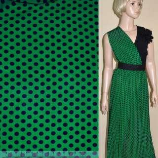 Купра диллон зеленая в синий горох ш.145