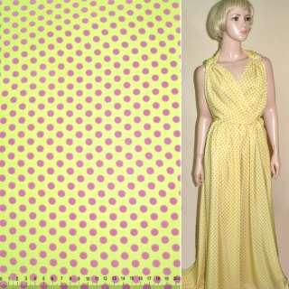 Купра диллон желтая в розовый горох ш.150