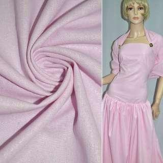 Лен ярко-розовый с серебристым напылением