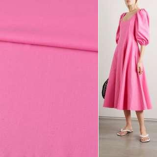 Лен розовый яркий ш.140