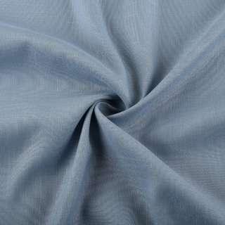 Лен стрейч с хлопком серо-голубой ш.145