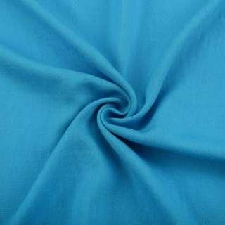 Лен с вискозой голубой яркий ш.145