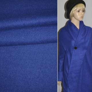 Лоден букле пальтовый синий, ш.150