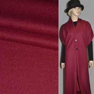 Лоден букле пальтовый бордовый, ш.154