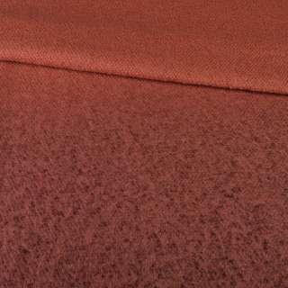 Лоден букле крупное с ворсом пальтовый омбре терракотовый, ш.155