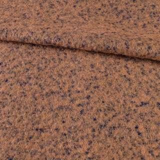 Лоден букле крупное с ворсом пальтовый фиолетово-терракотовый, ш.145