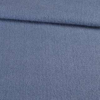 Лоден мохер пальтовый голубой темный, ш.155