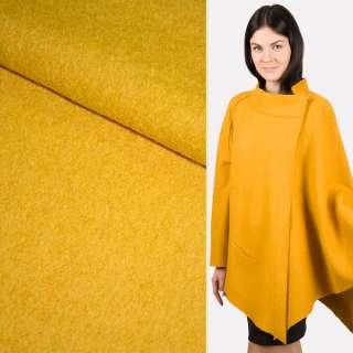 Лоден букле пальтовый горчично-желтый, ш.150