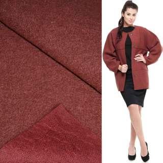 Лоден букле пальтовый бордово-коричневый, ш.150