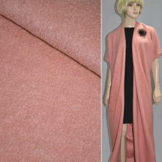 Лоден букле пальтовый персиковый светлый, ш.155