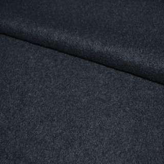 Лоден букле пальтовый синий темный, ш.150