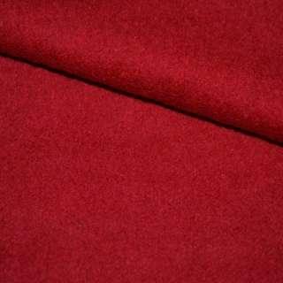Лоден букле пальтовый красный, ш.155