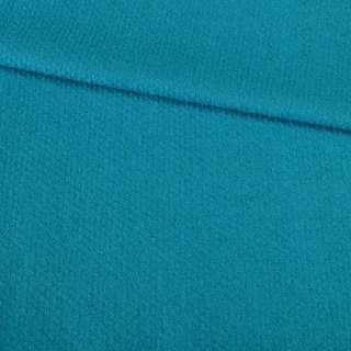 Лоден букле пальтово-костюмный фактурная полоса голубой кобальтовый, ш.150