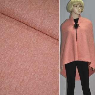 Лоден букле крупное пальтовый розово-персиковый, ш.150