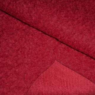 Лоден букле крупное пальтовый красный, ш.153