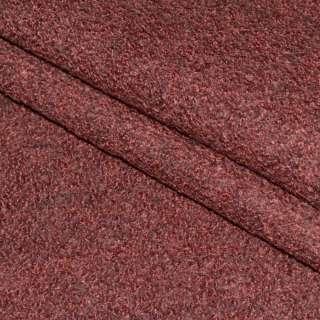Лоден букле пальтовый меланж терракотово-серый, ш.150