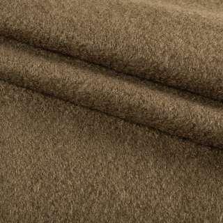 Лоден букле пальтовый коричневый светлый, ш.150