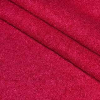 Лоден букле пальтовый малиновый, ш.150