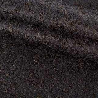 Лоден букле крупное с ворсом пальтовый черный, ш.150