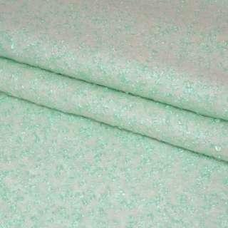 Лоден-букле светлая мята ш.155